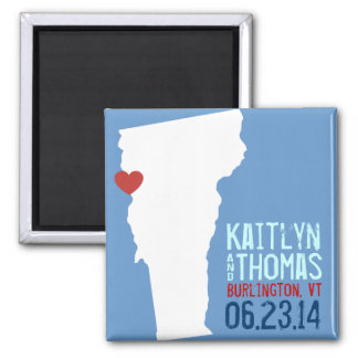 Vermont Save the Date - Customizable City Magnet