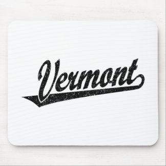 Vermont script logo in black distressed mouse pad