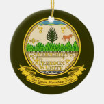 Vermont Seal Christmas Tree Ornament
