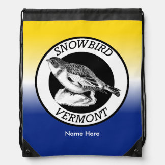 Vermont Snowbird Shield Drawstring Bag