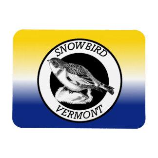 Vermont Snowbird Shield Magnet