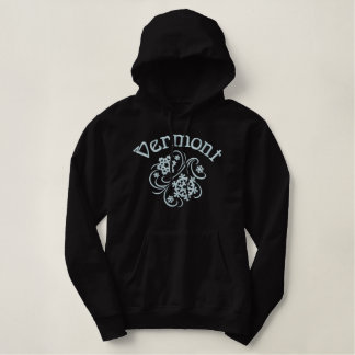 Vermont Snowflakes Embroidered Hoodie