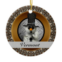 Vermont Snowman Christmas Ornament