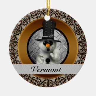 Vermont Snowman Christmas Ornament