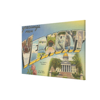 Vermont (State Capital/Flower) - Canvas Prints