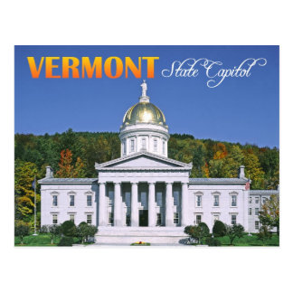 Vermont State Capitol building, Montpelier Postcard