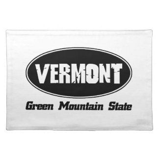 Vermont state designs cloth place mat
