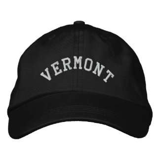 Vermont State Embroidered Embroidered Baseball Hat