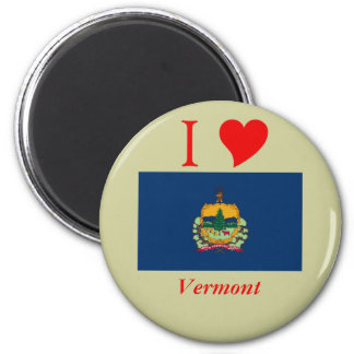 Vermont State Flag 2 Inch Round Magnet