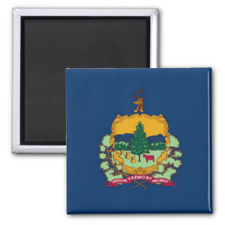 Vermont State Flag 2 Inch Square Magnet