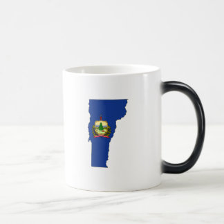 Vermont State Flag and Map Magic Mug