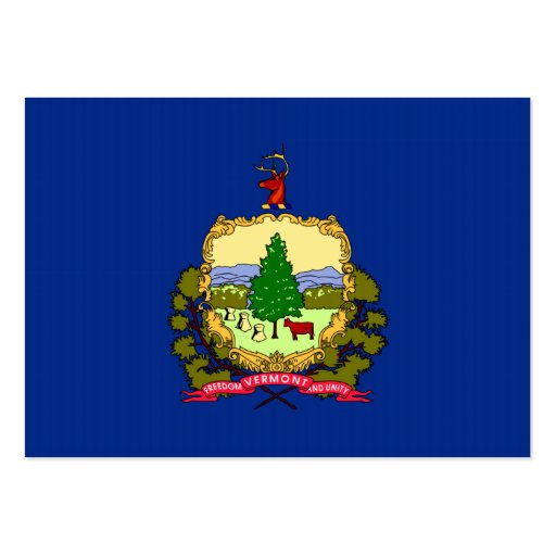 Vermont State Flag Business Cards