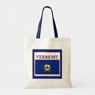 Vermont State Flag Design Budget Canvas Bag