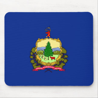 Vermont State Flag Design Mouse Pad