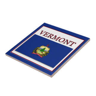 Vermont State Flag Design Tile