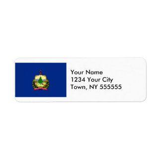 Vermont State Flag Label