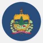 Vermont State Flag Round Stickers