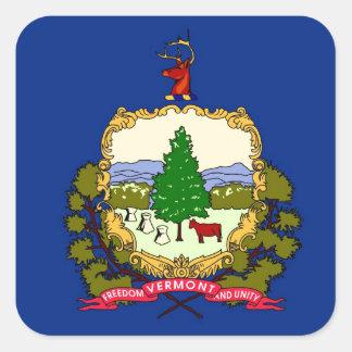 Vermont State Flag Square Sticker