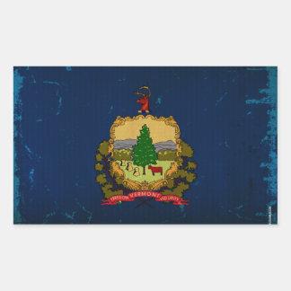 Vermont State Flag VINTAGE Rectangular Sticker
