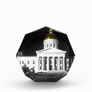 Vermont State House At Night Acrylic Award