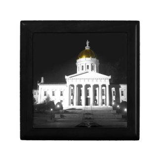 Vermont State House At Night Jewelry Box
