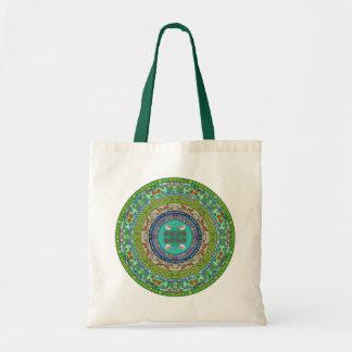 Vermont State Mandala Tote Bag