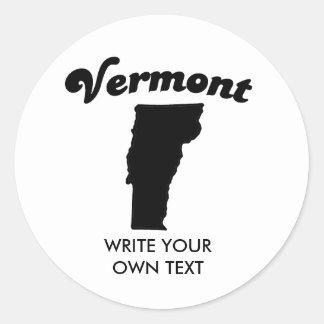 VERMONT STATE MOTTO T-SHIRT CLASSIC ROUND STICKER