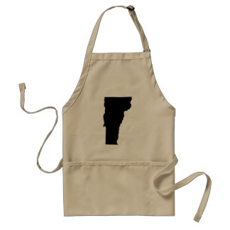 Vermont State Outline Adult Apron