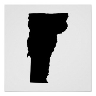 Vermont State Outline Poster