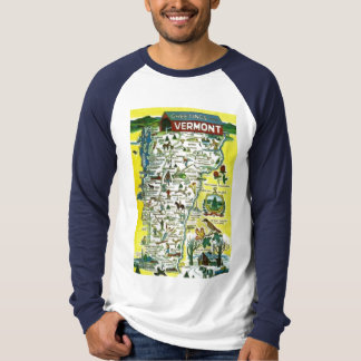 Vermont State Penny Postcard T-Shirt