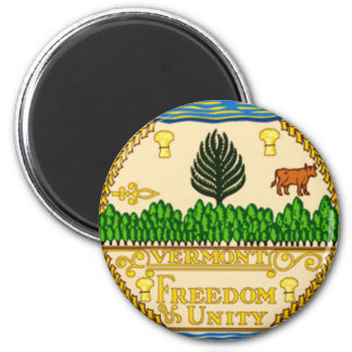 Vermont State Seal 2 Inch Round Magnet