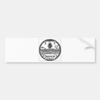 Vermont State Seal Bumper Sticker