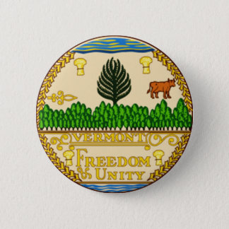 Vermont State Seal Button