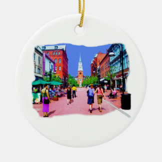 Vermont Street Painting Ceramic Ornament