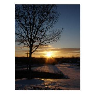 Vermont Sunset Postcard