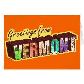 Vermont Tarjeta De Felicitación
