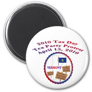 Vermont Tax Day Tea Party Protest Magnet