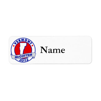 Vermont Thad McCotter Label