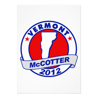 Vermont Thad McCotter Personalized Invites