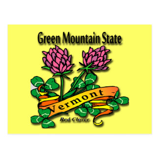 Vermont The Green Mountain State Red Clover Postcards