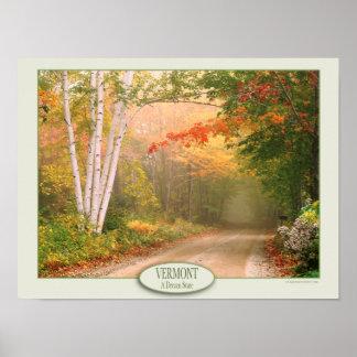 Vermont un papel de poster del valor del estado póster