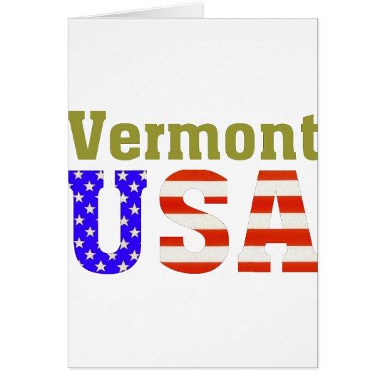 Vermont USA! Card