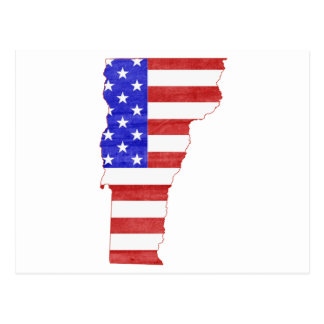 Vermont USA flag silhouette state map Postcard