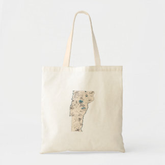 Vermont Vintage Picture Map Tote Bag