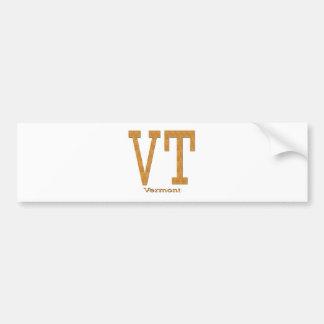 Vermont VT brown Bumper Sticker