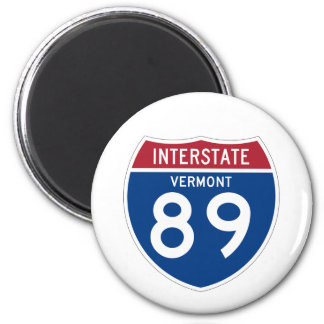 Vermont VT I-89 Interstate Highway Shield - 2 Inch Round Magnet