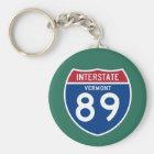Vermont VT I-89 Interstate Highway Shield - Keychain