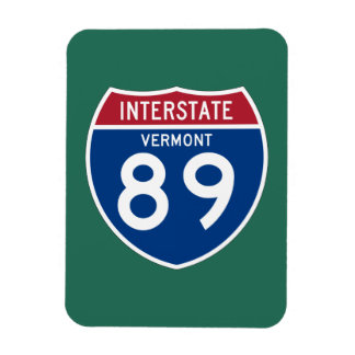Vermont VT I-89 Interstate Highway Shield - Rectangular Photo Magnet