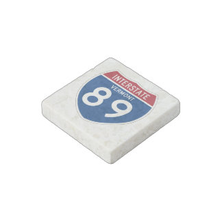 Vermont VT I-89 Interstate Highway Shield - Stone Magnet