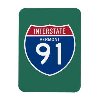 Vermont VT I-91 Interstate Highway Shield - Rectangular Photo Magnet